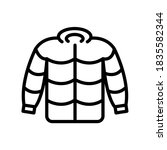 winter jacket outline vector...