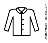 shirt outline vector icon....