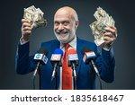 Greedy Politician Holding Cash...