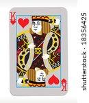 vector king of heart on... | Shutterstock .eps vector #18356425