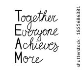together everyone achieves more ... | Shutterstock .eps vector #1835686381