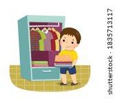 vector illustration cartoon of... | Shutterstock .eps vector #1835713117