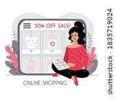 online shopping concept. the...