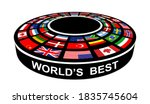 world's best symbol  3d podium... | Shutterstock .eps vector #1835745604