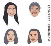 vector illustration of cartoon... | Shutterstock .eps vector #183575795