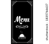 calligraphic lettering menu and ... | Shutterstock .eps vector #1835766637