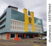 Small photo of Manado, October 16th, 2020. The Hermina Maternal and Child Hospital Building is located on the outer ring road of Manado. This hospital was only inaugurated in early October 2020
