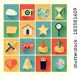 flat icons web set | Shutterstock .eps vector #183581609