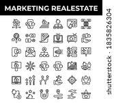 marketing real estate icon set... | Shutterstock .eps vector #1835826304
