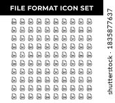 file format icon set include...   Shutterstock .eps vector #1835877637