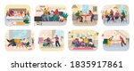 set of funny smiling people... | Shutterstock .eps vector #1835917861