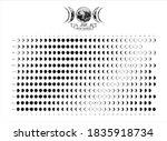 2021 moon phases calendar white ...   Shutterstock .eps vector #1835918734