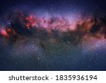 space background with night... | Shutterstock .eps vector #1835936194