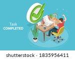 3d isometric flat conceptual... | Shutterstock . vector #1835956411