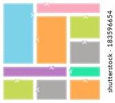 blank advertising coupons.... | Shutterstock .eps vector #183596654