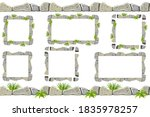 set of seamless old gray border ...   Shutterstock .eps vector #1835978257