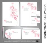 corporate identity template for ... | Shutterstock .eps vector #183598814