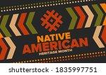 native american heritage month... | Shutterstock .eps vector #1835997751