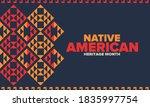 native american heritage month... | Shutterstock .eps vector #1835997754