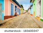 Colorful Traditional Houses In...