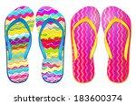 Vector Colorful Flip Flops    ...