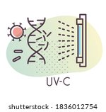 anti microbial uvc light... | Shutterstock .eps vector #1836012754