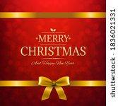 merry christmas with golden...   Shutterstock .eps vector #1836021331