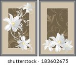 White Flowers In Decorative...