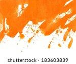 orange abstract painted... | Shutterstock . vector #183603839