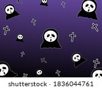 Cute Ghosts And Crosses On...