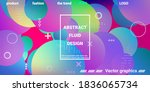 trendy abstract business card... | Shutterstock .eps vector #1836065734