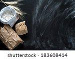 baking fresh bread  background... | Shutterstock . vector #183608414