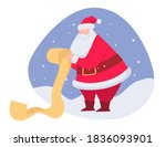 grandfather frost reading list... | Shutterstock .eps vector #1836093901