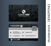 business card  visiting card... | Shutterstock .eps vector #1836095461