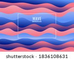 abstract blue and pink wave... | Shutterstock .eps vector #1836108631