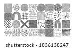 various hand drawn textures ... | Shutterstock .eps vector #1836138247