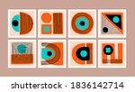 set of minimal style geometric... | Shutterstock .eps vector #1836142714
