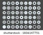 cogwheels large set. metal...   Shutterstock .eps vector #1836147751