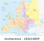 time zones of europe | Shutterstock .eps vector #183614849