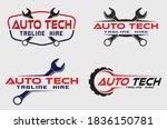 automotive service logo concept ... | Shutterstock .eps vector #1836150781