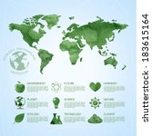 watercolor ecology infographic... | Shutterstock .eps vector #183615164