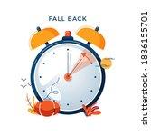 daylight saving time concept.... | Shutterstock .eps vector #1836155701