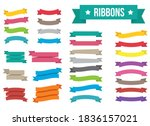 ribbon vector design... | Shutterstock .eps vector #1836157021