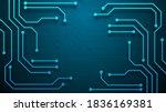 circuit technology background...   Shutterstock .eps vector #1836169381