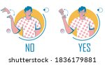 sign language guy shows hands... | Shutterstock .eps vector #1836179881