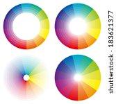 rainbow circles  blue  green ... | Shutterstock .eps vector #183621377