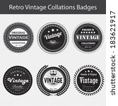 vintage retro badges and labels | Shutterstock .eps vector #183621917