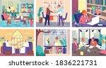 business meeting in office ... | Shutterstock .eps vector #1836221731
