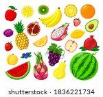 sweet fruits isolated vector...   Shutterstock .eps vector #1836221734
