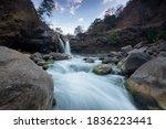 A Beautiful Waterfall In...